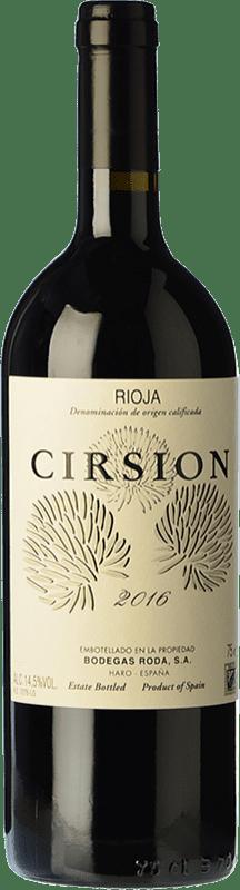 422,95 € Envío gratis | Vino tinto Bodegas Roda Cirsion Crianza D.O.Ca. Rioja La Rioja España Tempranillo Botella Mágnum 1,5 L