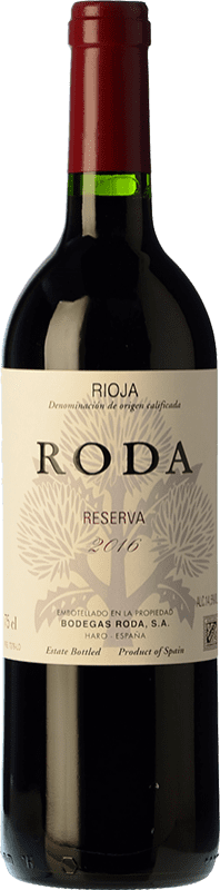 28,95 € Envío gratis | Vino tinto Bodegas Roda Reserva D.O.Ca. Rioja La Rioja España Tempranillo, Graciano Botella 75 cl