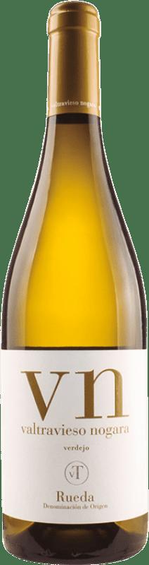 9,95 € Envío gratis | Vino blanco Valtravieso Dominio de Nogara D.O. Rueda Castilla y León España Verdejo Botella 75 cl