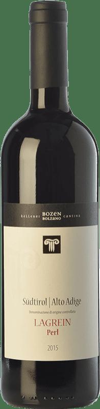 13,95 € Free Shipping | Red wine Bolzano Perl D.O.C. Alto Adige Trentino-Alto Adige Italy Lagrein Bottle 75 cl