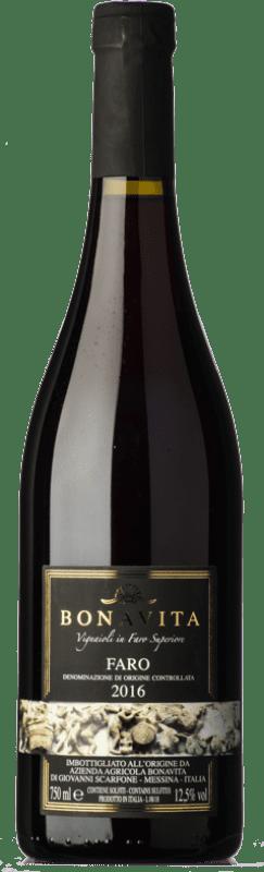 33,95 € | Red wine Bonavita D.O.C. Faro Sicily Italy Nerello Mascalese, Nerello Cappuccio, Nocera Bottle 75 cl