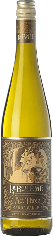 16,95 € Free Shipping | White wine Bortoli La Bohème III Pinot Gris Crianza I.G. Yarra Valley Yarra Valley Australia Gewürztraminer, Riesling, Pinot Grey, Pinot White Bottle 75 cl