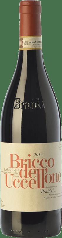 63,95 € 免费送货 | 红酒 Braida Bricco dell'Uccellone D.O.C. Barbera d'Asti 皮埃蒙特 意大利 Barbera 瓶子 75 cl