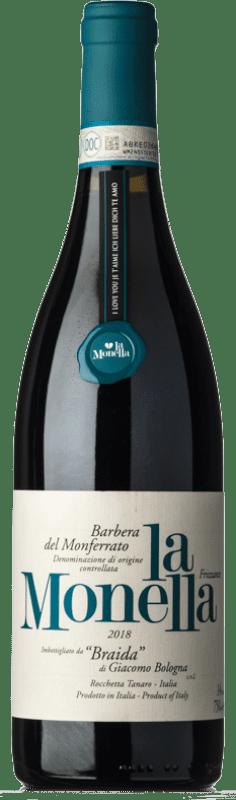 13,95 € 免费送货 | 红酒 Braida La Monella D.O.C. Barbera del Monferrato 皮埃蒙特 意大利 Barbera 瓶子 75 cl