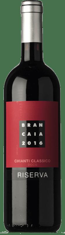 31,95 € Envío gratis | Vino tinto Brancaia Riserva Reserva D.O.C.G. Chianti Classico Toscana Italia Merlot, Sangiovese Botella 75 cl