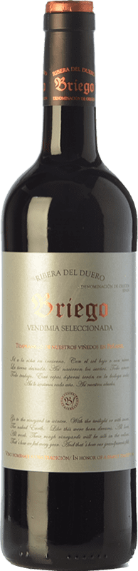 9,95 € Free Shipping | Red wine Briego Vendimia Seleccionada Joven D.O. Ribera del Duero Castilla y León Spain Tempranillo Bottle 75 cl
