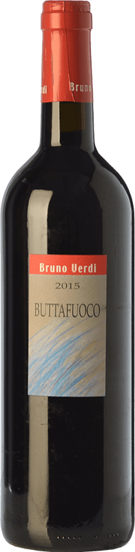 12,95 € Free Shipping | Red wine Bruno Verdi Buttafuoco D.O.C. Oltrepò Pavese Lombardia Italy Barbera, Croatina, Rara Bottle 75 cl