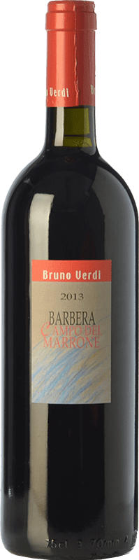 17,95 € Free Shipping | Red wine Bruno Verdi Campo del Marrone D.O.C. Oltrepò Pavese Lombardia Italy Barbera Bottle 75 cl
