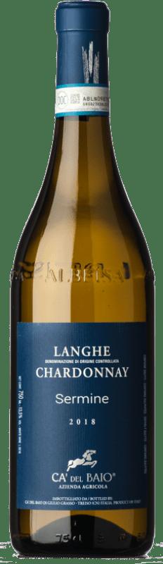 15,95 € Free Shipping   White wine Cà del Baio Langhe Sermine Crianza D.O.C. Piedmont Piemonte Italy Chardonnay Bottle 75 cl