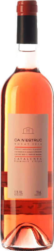 5,95 € | Rosé wine Ca N'Estruc Joven D.O. Catalunya Catalonia Spain Tempranillo, Merlot, Cabernet Sauvignon Bottle 75 cl
