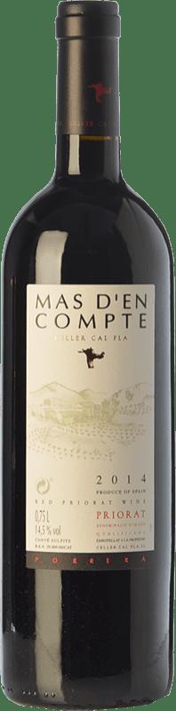 29,95 € Free Shipping | Red wine Cal Pla Mas d'en Compte Negre Crianza D.O.Ca. Priorat Catalonia Spain Grenache, Cabernet Sauvignon, Carignan Bottle 75 cl