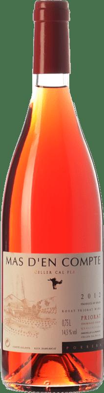 9,95 € 免费送货 | 玫瑰酒 Cal Pla Mas d'en Compte Rosat D.O.Ca. Priorat 加泰罗尼亚 西班牙 Grenache Grey, Picapoll Black 瓶子 75 cl