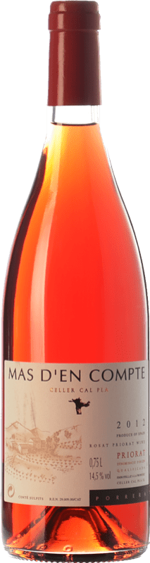 9,95 € Free Shipping | Rosé wine Cal Pla Mas d'en Compte Rosat D.O.Ca. Priorat Catalonia Spain Grenache Grey, Picapoll Black Bottle 75 cl