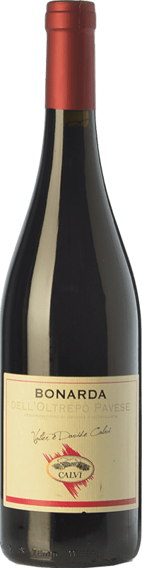 6,95 € Free Shipping | Red wine Calvi Bonarda Vivace D.O.C. Oltrepò Pavese Lombardia Italy Croatina Bottle 75 cl