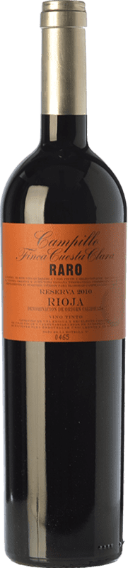 32,95 € | Red wine Campillo Raro Finca Cuesta Clara Reserva D.O.Ca. Rioja The Rioja Spain Tempranillo Hairy Bottle 75 cl
