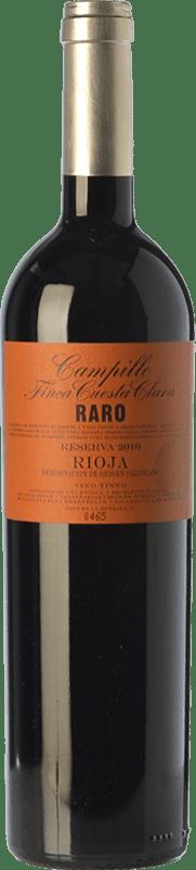 32,95 € Envío gratis | Vino tinto Campillo Raro Finca Cuesta Clara Reserva D.O.Ca. Rioja La Rioja España Tempranillo Peludo Botella 75 cl