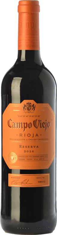 11,95 € Envío gratis | Vino tinto Campo Viejo Reserva D.O.Ca. Rioja La Rioja España Tempranillo, Graciano, Mazuelo Botella 75 cl