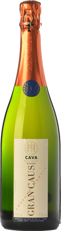 14,95 € Free Shipping | White sparkling Can Ràfols Gran Caus Brut Nature Reserva D.O. Cava Catalonia Spain Macabeo, Xarel·lo, Chardonnay Bottle 75 cl