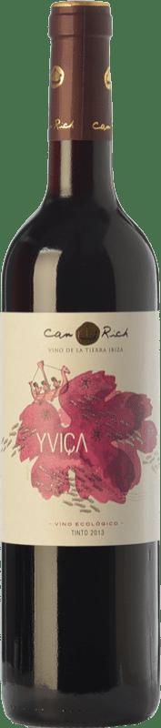 11,95 € | Red wine Can Rich Yviça Joven I.G.P. Vi de la Terra de Ibiza Balearic Islands Spain Tempranillo, Merlot, Monastrell Bottle 75 cl