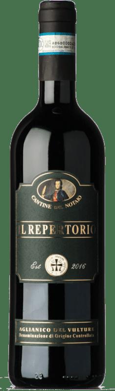 16,95 € | Red wine Cantine del Notaio Il Repertorio D.O.C. Aglianico del Vulture Basilicata Italy Aglianico Bottle 75 cl