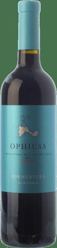 19,95 € | Red wine Cap de Barbaria Ophiusa Joven I.G.P. Vi de la Terra de Formentera Balearic Islands Spain Merlot, Cabernet Sauvignon, Monastrell, Fogoneu Bottle 75 cl