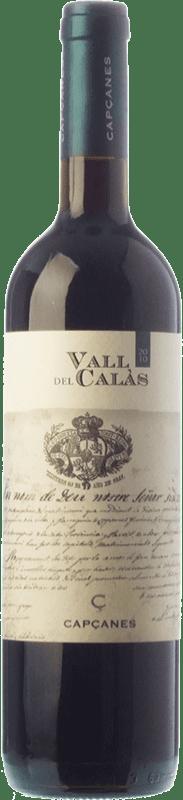 16,95 € Free Shipping | Red wine Capçanes Vall del Calàs Crianza D.O. Montsant Catalonia Spain Tempranillo, Merlot, Grenache, Carignan Bottle 75 cl