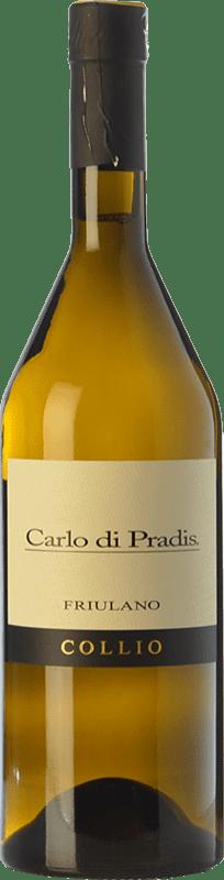 17,95 € Free Shipping | White wine Carlo di Pradis D.O.C. Collio Goriziano-Collio Friuli-Venezia Giulia Italy Friulano Bottle 75 cl