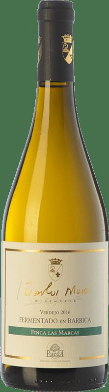 15,95 € 免费送货   白酒 Carlos Moro Finca Las Marcas Crianza D.O. Rueda 卡斯蒂利亚莱昂 西班牙 Verdejo 瓶子 75 cl