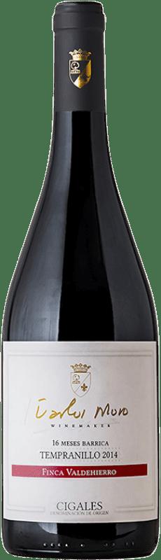 37,95 € Free Shipping | Red wine Carlos Moro Finca Valdehierro Crianza D.O. Cigales Castilla y León Spain Tempranillo Bottle 75 cl