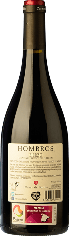 17,95 € | Red wine Casar de Burbia Hombros Crianza D.O. Bierzo Castilla y León Spain Mencía Bottle 75 cl