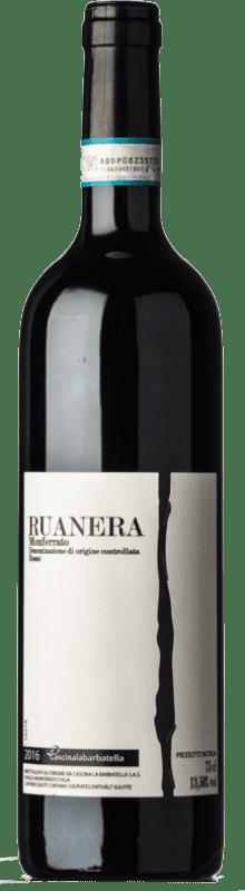 13,95 € Free Shipping | Red wine La Barbatella Ruanera D.O.C. Monferrato Piemonte Italy Cabernet Sauvignon, Barbera Bottle 75 cl