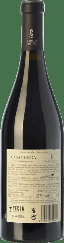 33,95 € Free Shipping   Red wine Castaño Casa de la Cera Reserva D.O. Yecla Region of Murcia Spain Merlot, Syrah, Cabernet Sauvignon, Monastrell, Grenache Tintorera Bottle 75 cl