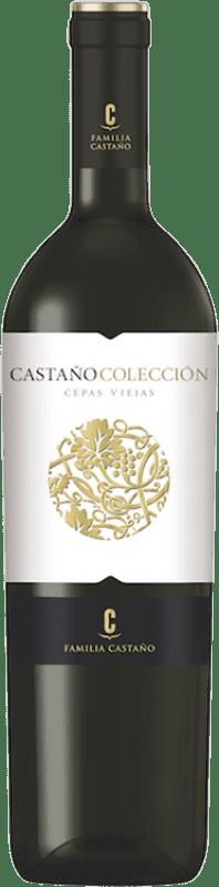 15,95 € Free Shipping | Red wine Castaño Colección Cepas Viejas Crianza D.O. Yecla Region of Murcia Spain Cabernet Sauvignon, Monastrell Bottle 75 cl