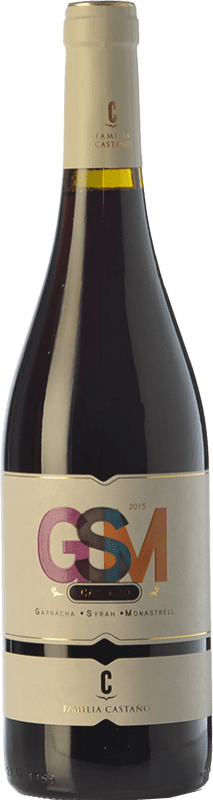 6,95 € | Red wine Castaño GSM Joven D.O. Yecla Region of Murcia Spain Syrah, Monastrell, Grenache Tintorera Bottle 75 cl