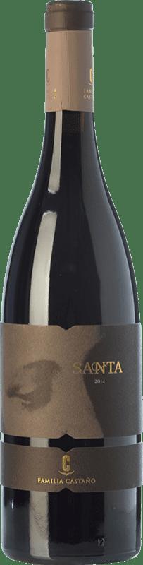 21,95 € Envío gratis | Vino tinto Castaño Santa Crianza D.O. Yecla Región de Murcia España Monastrell, Garnacha Tintorera Botella 75 cl