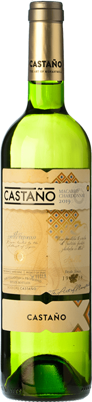 7,95 € | White wine Castaño Crianza D.O. Yecla Region of Murcia Spain Macabeo, Chardonnay Bottle 75 cl