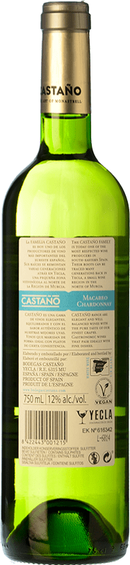 7,95 € Free Shipping   White wine Castaño Crianza D.O. Yecla Region of Murcia Spain Macabeo, Chardonnay Bottle 75 cl