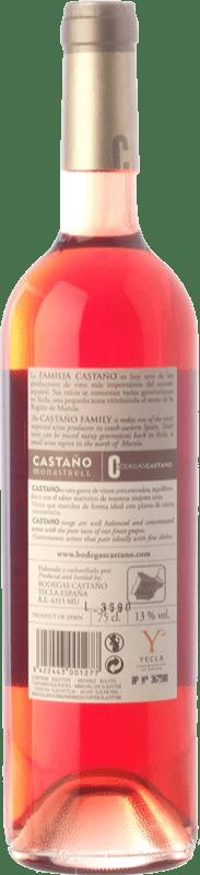 7,95 € Free Shipping | Rosé wine Castaño Joven D.O. Yecla Region of Murcia Spain Syrah, Cabernet Sauvignon, Monastrell Bottle 75 cl