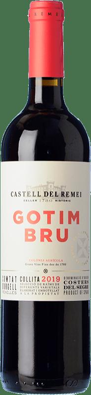 8,95 € Envío gratis | Vino tinto Castell del Remei Gotim Bru Joven D.O. Costers del Segre Cataluña España Tempranillo, Merlot, Syrah, Garnacha, Cabernet Sauvignon Botella 75 cl