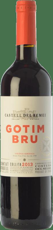 24,95 € 免费送货 | 红酒 Castell del Remei Gotim Bru Joven D.O. Costers del Segre 加泰罗尼亚 西班牙 Tempranillo, Merlot, Syrah, Grenache, Cabernet Sauvignon 瓶子 Magnum 1,5 L