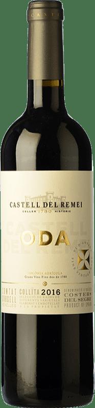 14,95 € Envío gratis | Vino tinto Castell del Remei Oda Crianza D.O. Costers del Segre Cataluña España Tempranillo, Merlot, Garnacha, Cabernet Sauvignon Botella 75 cl