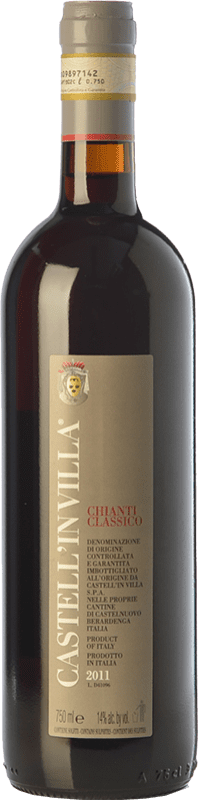 27,95 € Free Shipping | Red wine Castell'in Villa D.O.C.G. Chianti Classico Tuscany Italy Sangiovese Bottle 75 cl