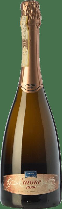 39,95 € | Rosé sparkling Castello di Cigognola More Rosé D.O.C.G. Oltrepò Pavese Metodo Classico Lombardia Italy Pinot Black Bottle 75 cl