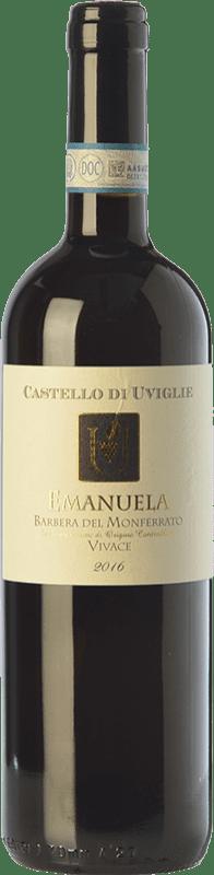 11,95 € | Red wine Castello di Uviglie Vivace Emanuela D.O.C. Barbera del Monferrato Piemonte Italy Barbera Bottle 75 cl