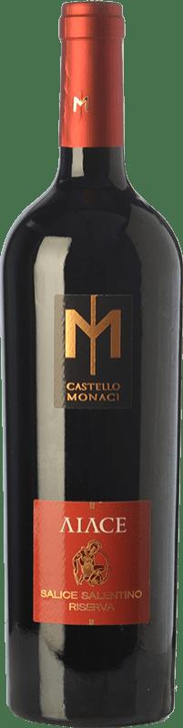16,95 € Free Shipping | Red wine Castello Monaci Aiace D.O.C. Salice Salentino Puglia Italy Malvasia Black, Negroamaro Bottle 75 cl