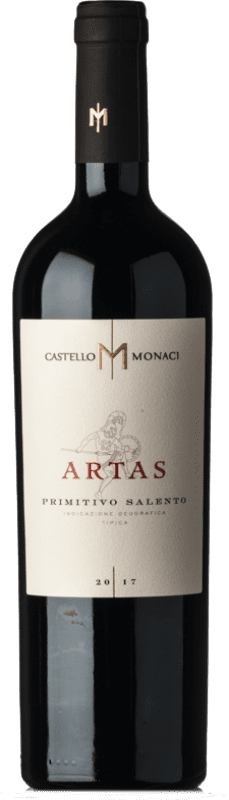 29,95 € Free Shipping | Red wine Castello Monaci Artas I.G.T. Salento Campania Italy Primitivo Bottle 75 cl