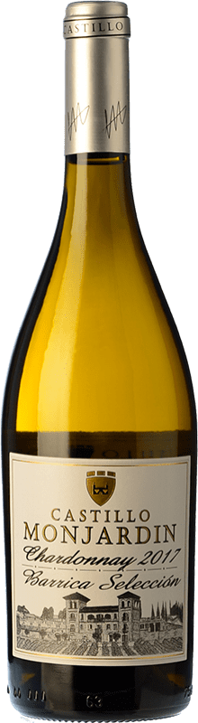 9,95 € Free Shipping | White wine Castillo de Monjardín Barrica Selección Crianza D.O. Navarra Navarre Spain Chardonnay Bottle 75 cl