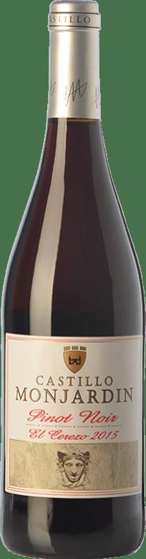13,95 € Free Shipping | Red wine Castillo de Monjardín El Cerezo Joven D.O. Navarra Navarre Spain Pinot Black Bottle 75 cl