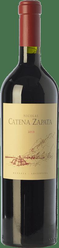 87,95 € 免费送货 | 红酒 Catena Zapata Nicolás Reserva I.G. Mendoza 门多萨 阿根廷 Cabernet Sauvignon, Malbec 瓶子 75 cl