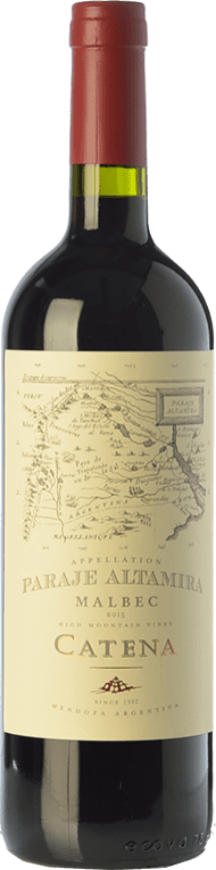 17,95 € 免费送货 | 红酒 Catena Zapata Paraje Reserva I.G. Altamira 阿尔塔米拉 阿根廷 Malbec 瓶子 75 cl